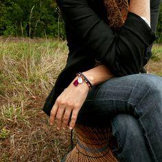 BRACELET cuir, Bracelet TISSÉ, Bracelet TRIBAL, CADEAU pour femme, Manchette CUIR, Bracelet ETHNIQUE, Pour FEMME, Cadeau MAMAN, Cadeau NOËL
