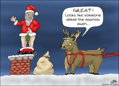 someone spiked the eggnog funny funny quotes humor christmas santa christmas quotes christmas quote christmas humor Christmas Greetings Quotes Funny, Funny Christmas Cartoons, Funny Christmas Pictures, Christmas Jokes, Funny Christmas Cards, Xmas, Christmas Art, Christmas Comics, Santa Pictures