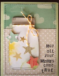 all your wishes come true mason jar card