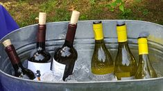 Keeping the wine cold on this very warm, summer day. Red or white, your guests will appreciate a cool drink.