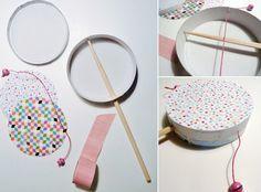 fabriquer tambourin enfant - Grandir avec Nathan http://www.grandiravecnathan.com/bricolage/le-joli-tambourin.html