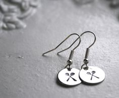 Lacrosse stick earrings...perfect for the girl that loves lax!