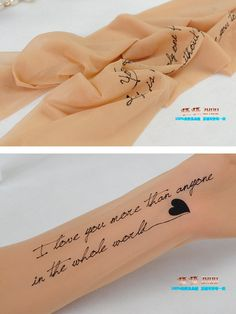 """""""love you more than anyone"""" tattoo tights. for Tesha and Dina. the tattoo without the pain Tattoo Fonts, I Tattoo, Love Letter Tattoo, Tattoo Tights, I Am Beautiful, Sheer Tights, Stocking Tights, Love You More Than, Female Bodies"""