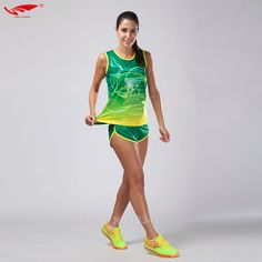 247948c3214 2017 Survetement Homme 2pcs Women Sport Suits Marathon Vest+Shorts Racing  clothing Track and field Clothing Jogging Running Sets-in Running Sets from  Sports ...