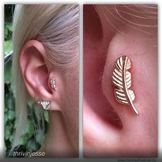 BVLA feather in tragus...I need this <3