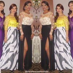 Muy guapas lucen Ana María y Paola Ulloa, con diseños de @marielenacasademodas
