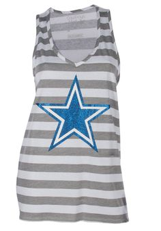 Dallas Cowboys Ladies Love Them Boys Burnout Tank Top - White ...