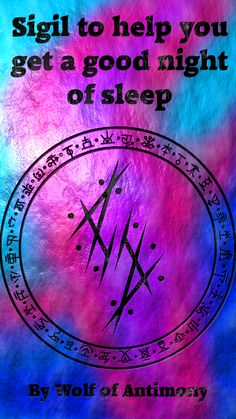 Sigil to help you get a good night of sleep