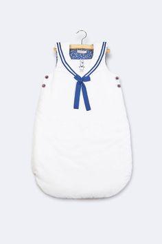 Vente Natalys / 17415 / Chambre / Textile de chambre / Gigoteuse Blanc et bleu marine
