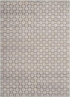 Neutral rug; I like the geometric pattern.
