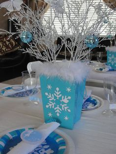 """Photo 1 of 19: Winter Wonderland Snowflake Princess Party / Birthday """"Finley's 6th Birthday """" 