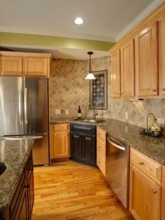 Kitchen Ideas Maple Cabinets coffee glazed maple cabinets, granite countertop, cooktop with