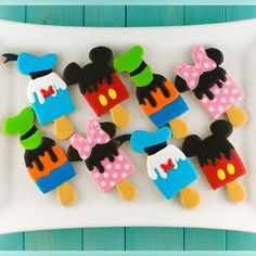 Mickey, Minnie, Donald & Goofy Popsicle Cookies