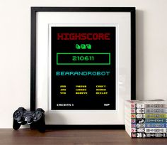 Gaming quote poster retro highscore