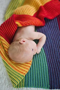 Tot Toppers Favorite Blanket Easy Stripes Knitting Pattern