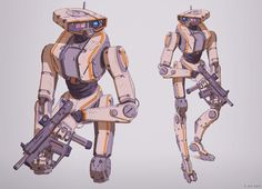 """adamabaines: """"Exploding robots and standing robots! """" That 2nd one! That style…"""