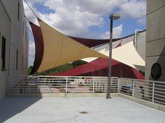 Sun Sails, Shade Sails, Fabric Canopy, Community College, Fabric Shades, Sailing, Engineering, Fair Grounds, Florida