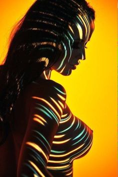 Light Sculpture by Carnisch on DeviantArt Colorful Pictures, Some Pictures, Cool Poses, Nude Photography, Light And Shadow, Erotic Art, Body Painting, Color Splash, Color Mixing