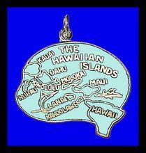 HAWAIIAN ISLANDS Hawaii Sterling Silver Enamel Vintage Charm