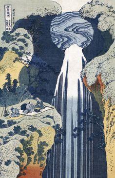 Amida Waterfall On The Kiso Highway Art Print by Christie's Images Easyart.com