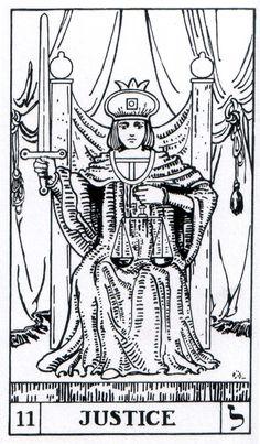 Justice - Builders of the Adytum Tarot (B.O.T.A. Tarot)