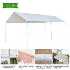 Car Canopy, Carport Canopy, Canopy Cover, Car Shelter, Portable Gazebo, Lightweight Tent, Garden Gazebo, Steel Doors