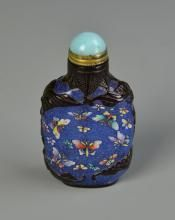 Chinese Enameled Peking Glass Snuff Bottle CHINESE ANTIQUES : More At FOSTERGINGER @ Pinterest