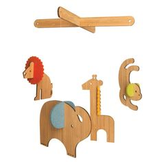 Petit Collage Deluxe Bamboo Safari Mobile A great baby gift.