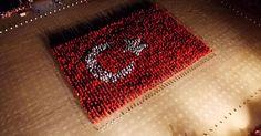 2015 kişi dev Türk Bayrağı oluşturdu