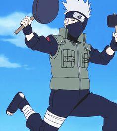 It doesn't matter what he's doing, Kakashi Sensei always looks fabulous. Anime Naruto, Naruto Kakashi, Kakashi Memes, Kakashi Funny, Naruto Shippuden Anime, Otaku Anime, Boruto, Kakashi Hatake Hokage, Naruto Wallpaper