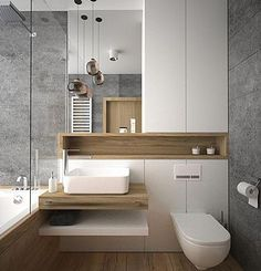 Luxury Bathroom Ideas is extremely important for your home. Whether you pick the Luxury Bathroom Master Baths Marble Counters or Luxury Bathroom Master Baths Wet Rooms, you will create the best Small Bathroom Decorating Ideas for your own life. Modern Bathroom Design, Bathroom Interior Design, Bath Design, Washroom Design, Modern Bathtub, Toilet Design, Key Design, Modern Design, Modern Toilet