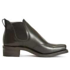 A bold and exciting style with clean, classic lines shapes this unique low pull on boot with a Western toe. Cleverly breaking away from office drab by emulating a timeless silhouette, this boot makes a statement in any room. Pull On Boots, Chelsea Boots, Silhouette, My Style, Classic, Shoes, Collection, Women, Fashion