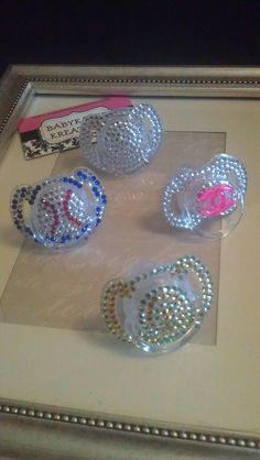 Bling Pacifiers Binkies by babykakeskreations on Etsy, $20.00