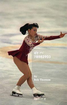 Sport. Ice Skating. 1992 Winter Olympic Games in Albertville. (Figure Skating). Midori Ito, Japan, the silver medal winner.