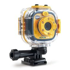 The VTech Kidizoom Action Cam is like a GoPro for little kids! Recommended for kids 4+, this camera is super durable! It comes with a waterproof case and two different mounts that attach it to bikes, skateboards, helmets, and more! It takes photos and videos that can be reviewed right on the screen on the back of the camera (I love that!). Gifts for Boys, ages 3 to 6 #shepicks