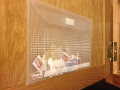 Store all those little Box Tops on the inside of a cabinet door.