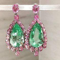 Follow @thejewellcloset - Stunning Pink Sapphire & Emerald Earrings by @munnuthegempalace follow@theJewellcloset Follow@thejewellcloset Follow@thejewellcloset Follow@thejewellcloset Follow@thejewellcloset ➖➖➖➖➖➖➖➖➖➖ Follow@thejewellcloset Follow@thejewellcloset Follow@thejewellcloset Follow@thejewellcloset➖➖➖➖➖➖➖➖➖ ➖ ➖ ➖ ➖ ➖ .. #diamonds#rosegold #necklace #brooch #jewellcloset #finejewelry#jewelry#jewellery#antiquejewelry#jewels #jewelrydesigner#glam#voguemagazi...