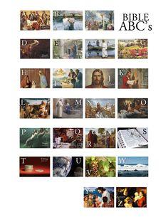 Bible ABC Full Page printable