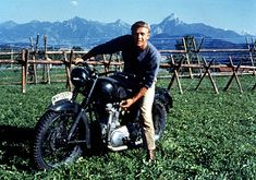 Steve McQueen. The Great Escape. It doesn't get cooler than that. Even if that is a Triumph masquerading as a BMW.