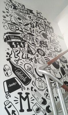 Mural para o apartamento MvsM