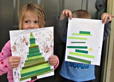 Easy Christmas Tree Activity for Kids