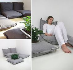 For the extreme minimalist (or the college student on a budget) these ZipZip floor cushions can be a cheap and easy alternative to the hassle of buying ordinary furniture. These floor pillow designs take it to the next level however as they can be zipped together to form ever-larger interconnected furniture pieces.