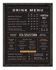 cafe menu board - Google Search
