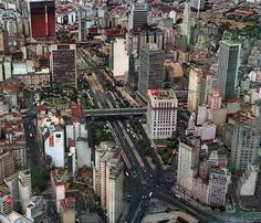 Vale do Anhangabau in 1965 - Sao Paulo, Brazil