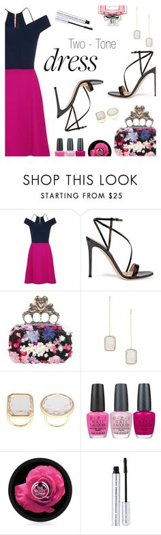 """On Trend: Two-Tone Dresses"" by dressedbyrose ❤ liked on Polyvore featuring Roland Mouret, Gianvito Rossi, Alexander McQueen, Vera Wang, OPI, 100% Pure, Christian Dior, polyvoreeditorial and twotonedress"
