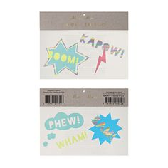 Superhero tattoos great partybag fillers for special stylish party gifts.Shop now to see our full superhero range by Designer Party Brand Meri Meri Superhero Party Supplies, Online Party Supplies, Party Gifts, Party Favors, Favours, Schrift Tattoos, Schrift Design, Large Tattoos, Tattoos For Kids