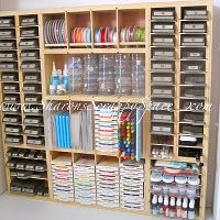 I like this storage for the craft room.