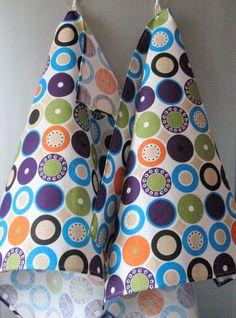 Linen Cotton Dish Towels Tea Towels Circle Round by Coloredworld, $17.95