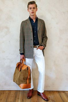 Dunhill Spring 2015   Men s London Fashion Week Sac Cuir Homme, Mode Homme,  Hommes 5906b73b547
