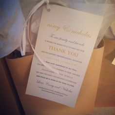 welcome bags for wedding guest